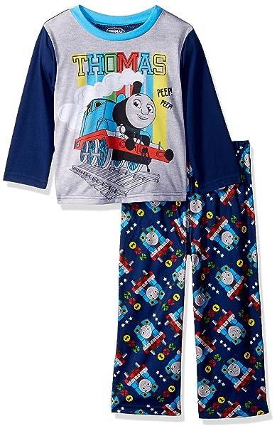 Amazon.com: Thomas & Friends - Juego de 2 pijamas para niño ...