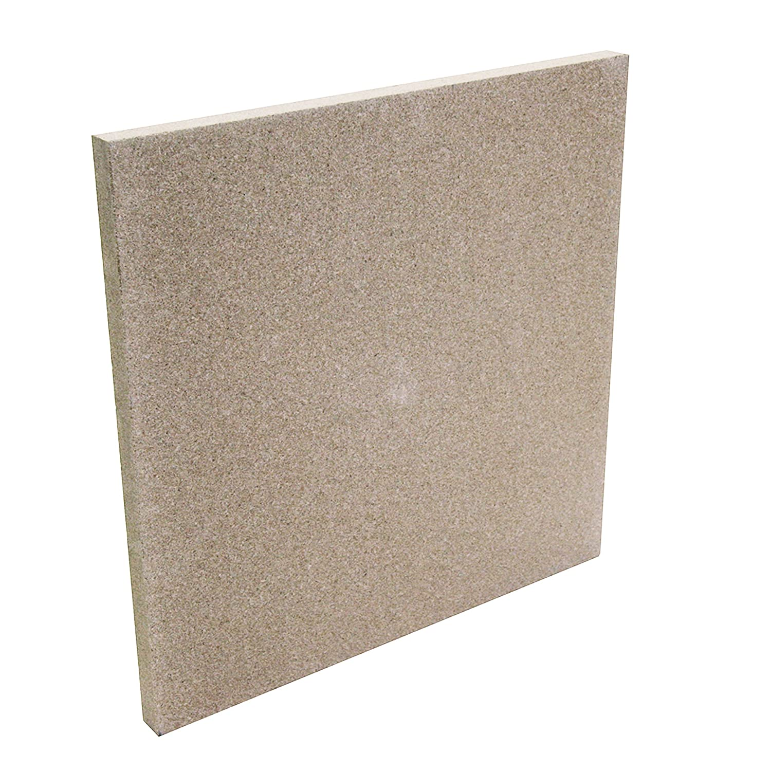 Kamino-Flam Vermiculite Fire Board, Incombustible Stove Plate made of Natural Clay, Chamotte Substitute, No Harmful Substances and Heavy Metals, Temperature-resistant up to 1,100°C, approx. 50x50x3cm Kamino - Flam 333304