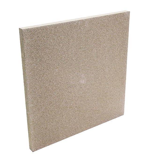 Kamino-Flam - Plancha de vermiculita (50/50/3 cm), Placa protectora para chimenea, estufa, horno y barbacoa, Panel aislante e ignífugo de vermiculita ...