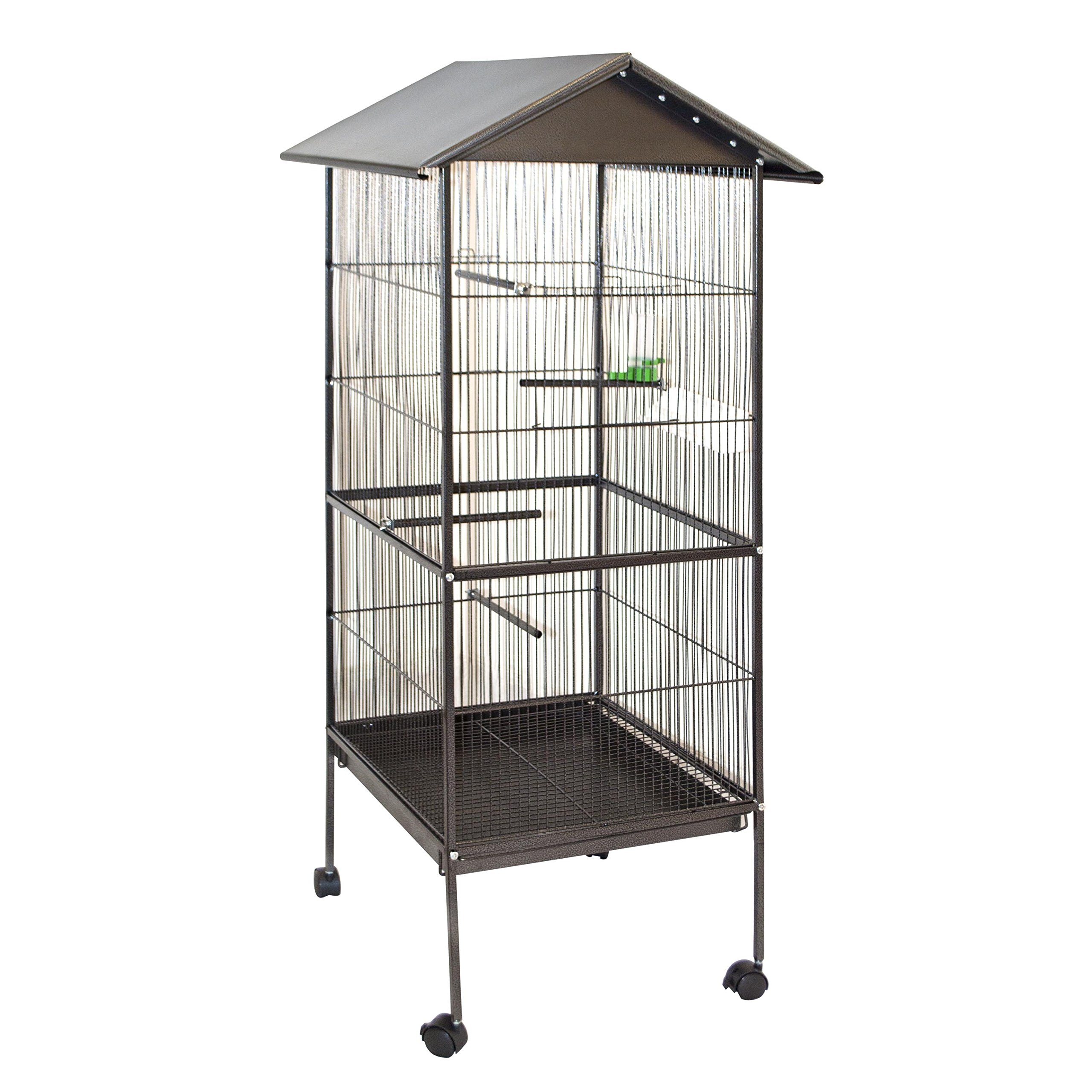 ALEKO BC002 Large Steel 20X20X61 Inch Bird Cage Pet House Parrot Macaw Finch Cockatiel Conure Cage