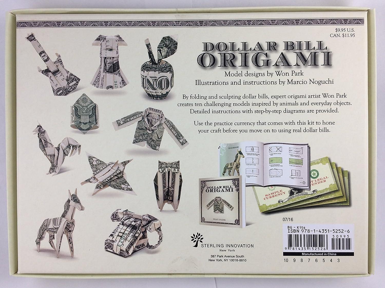 25 Money Origami Tutorials | 3D Dollar Bill Crafts | 1124x1500