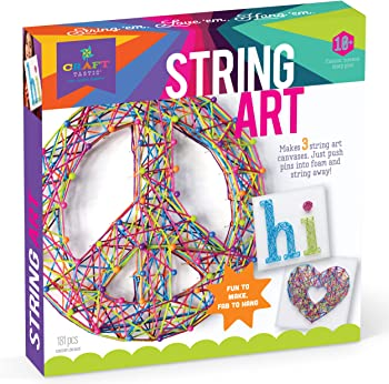 Craft-tastic String Craft Kit Makes Art Canvases Peace Sign Edition