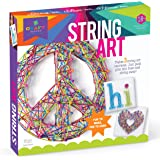 Craft-Tastic – String Art Kit – Craft Kit Makes 3 Large String Art Canvases – Peace Sign Edition