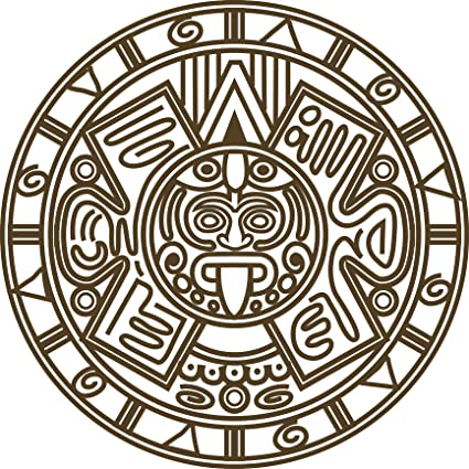 Amazon.com: Divine Designs Pretty Simple Aztec Emblem Logo Icon ...