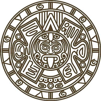 amazon pretty simple aztec emblem logo icon vinyl decal sticker Aztec Pottery amazon pretty simple aztec emblem logo icon vinyl decal sticker 4 wide automotive