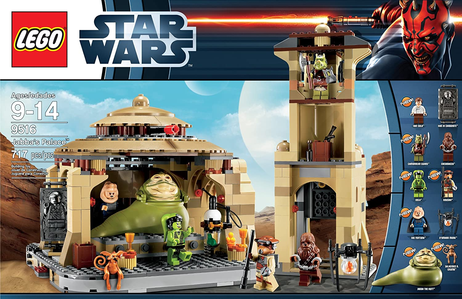 LEGO Star Wars Jabbas Palace Kids Assembly Building Toy Set - 25 2 lego star wars minifigures han solo han in carbonite blaster