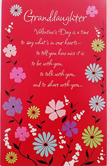 Amazoncom Granddaughter Happy Valentines Day Greeting Card