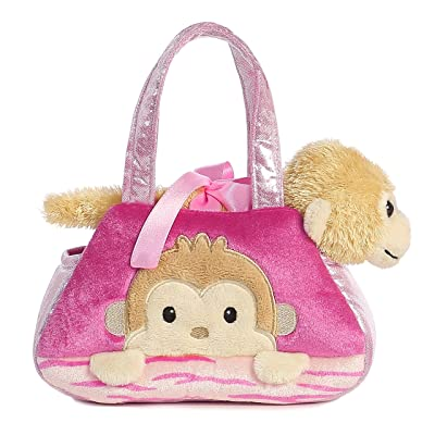 Aurora World Fancy Pals Peek-A-Boo Monkey Pet Carrier: Toys & Games