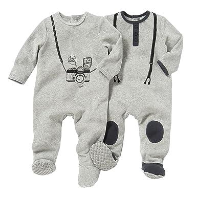 d78f78678113d La Redoute Collections Enfant conf. De 2 Pyjama en Velours de 0 Mois ...