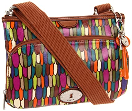 b0e43edc5 Fossil Key Per Top Zip Coated Canvas, Multi: Handbags: Amazon.com