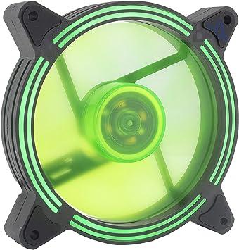 Suranus Ventilador LED 120 mm Verde Ring V2 SU-W12025FD 12V 45CFM ...