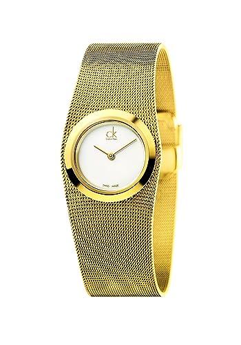 Calvin Klein Reloj Analógico para Mujer de Cuarzo con Correa en Acero Inoxidable K3T23526: Amazon.es: Relojes