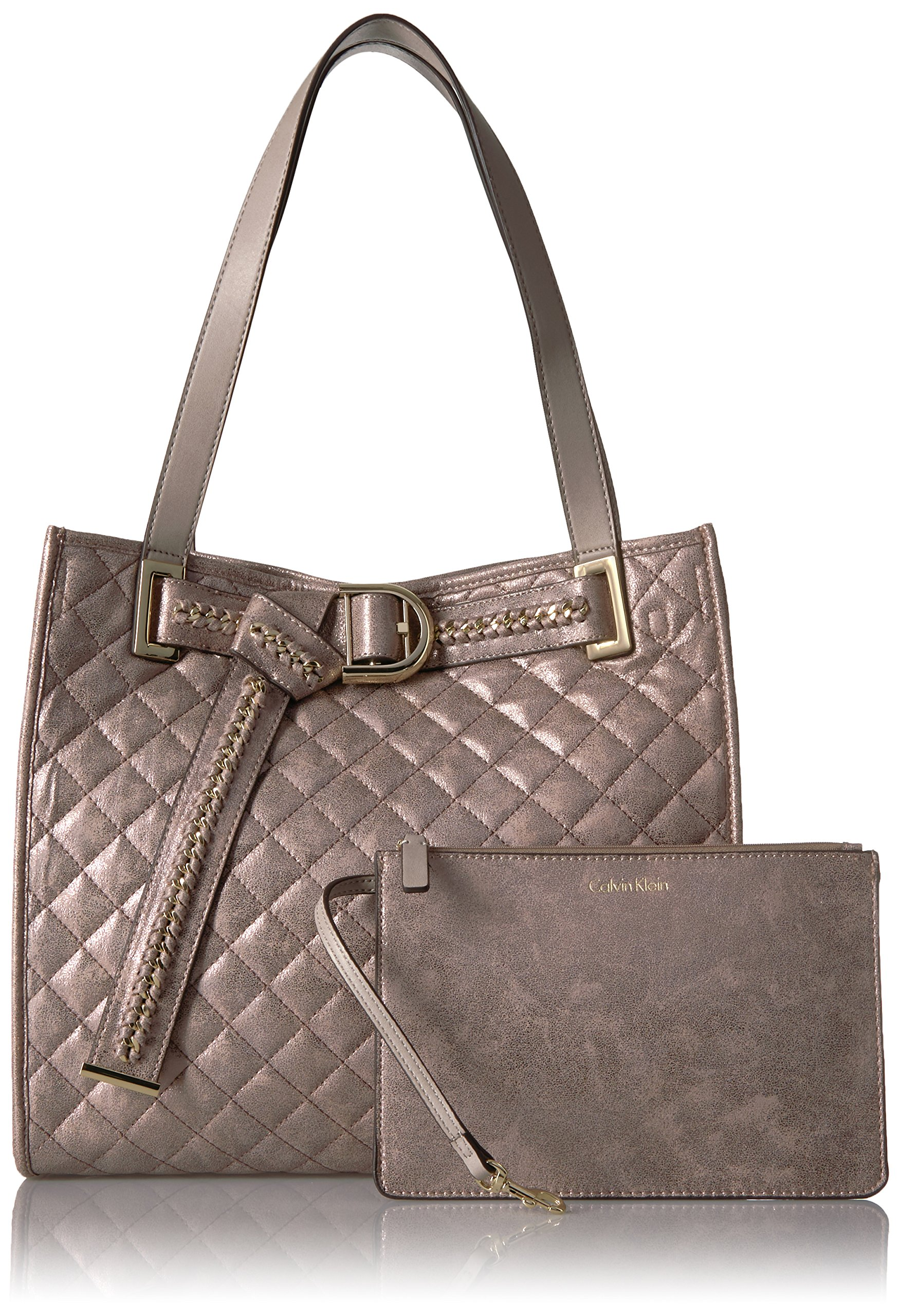 Calvin Klein Nola Quilted Distressed Belted Tote by Calvin Klein (Image #6)