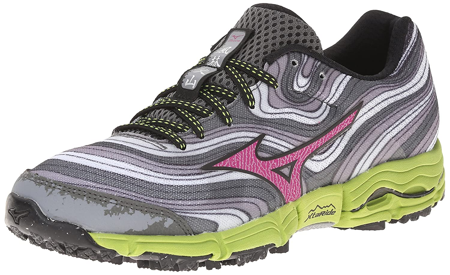 Mizuno Women's Wave Kazan Trail Running Shoe B00QW5JIPU 6.5 B(M) US|Alloy Wild Aster