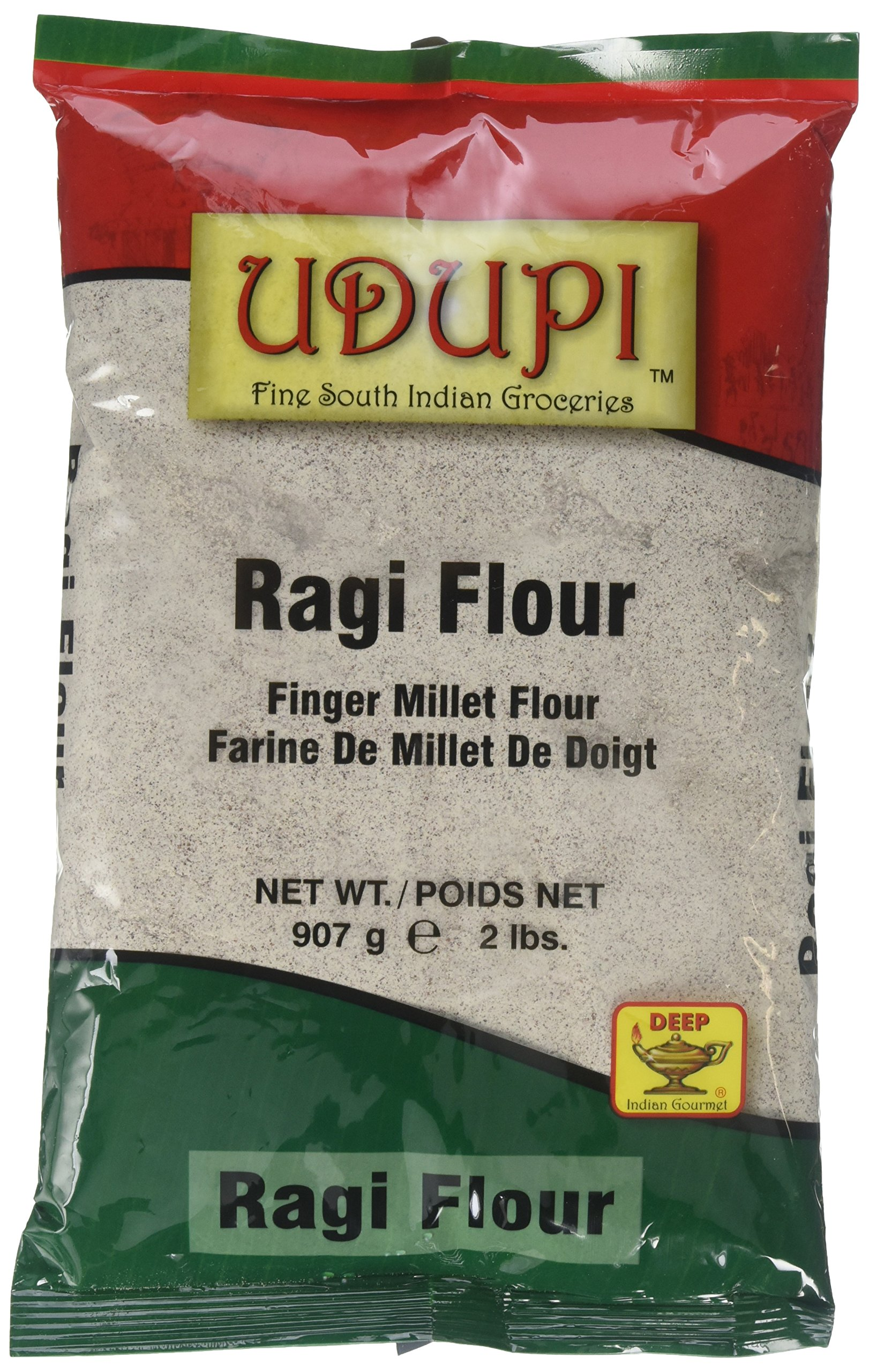 Udupi Ragi (Finger Millet) Flour - 907 Grams, 2 lbs (Pack of 2)
