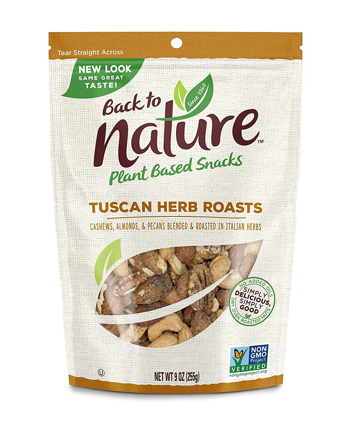 Back to Nature Trail Mix, Non-GMO Tuscan Herb Roasts Blend, 9 Ounces (Pack of 9) (Packaging May Vary)