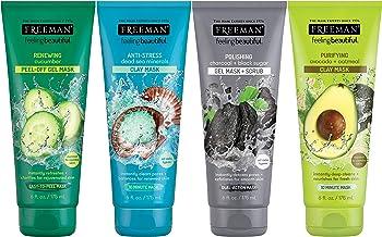 4-Pack of 6 Oz Freeman Facial Mask Variety Set