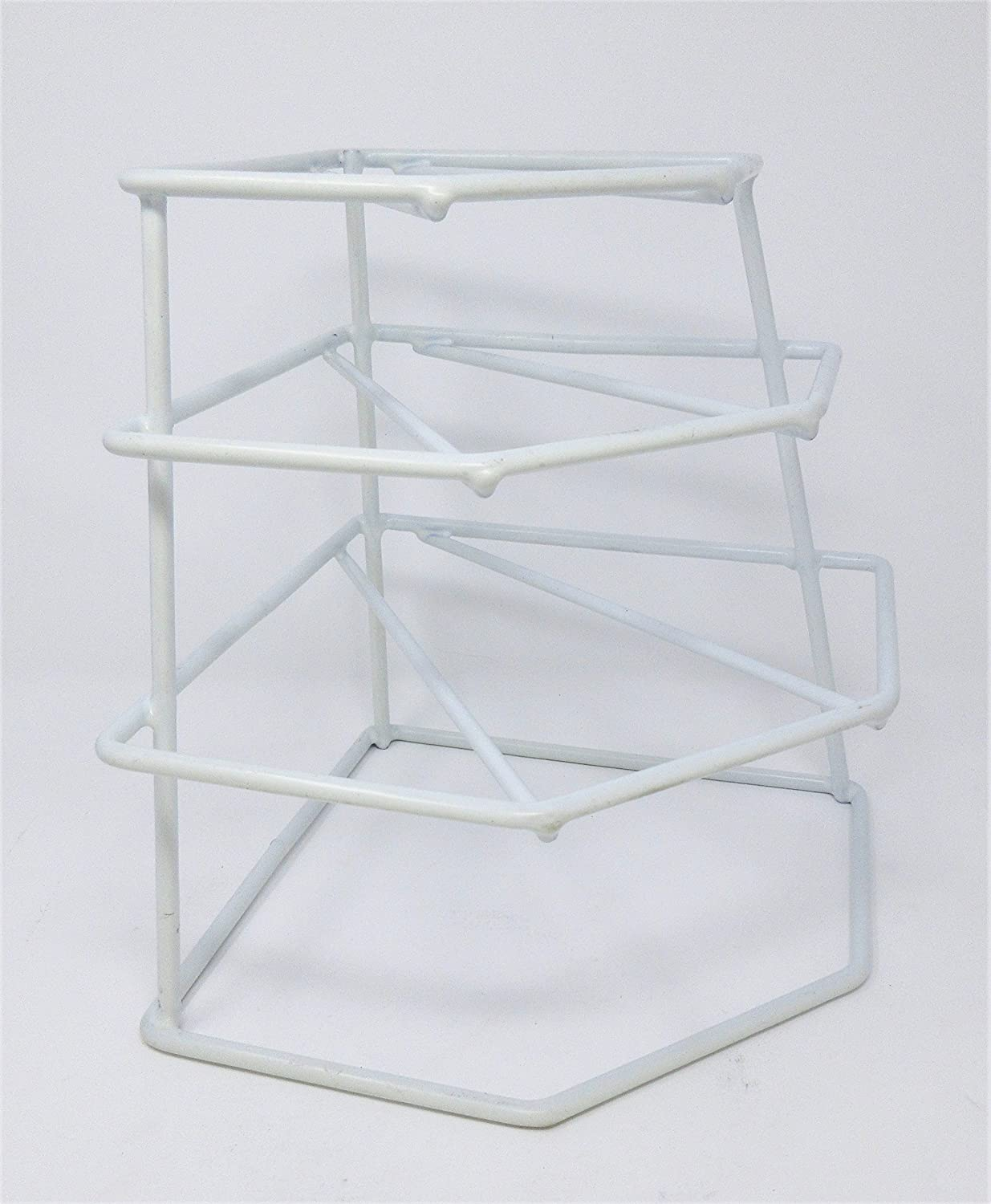 CookSpace (TM) White 4 Tier Heavy Duty Corner Plate Storage Rack Stand Holder CookSpace ®