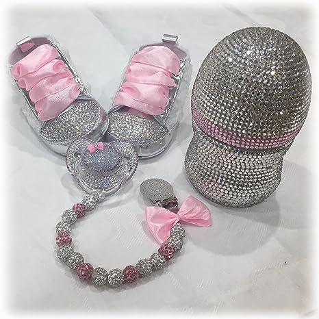 Luxus Set de regalo con nombres, Chupete, zapatos de strass ...
