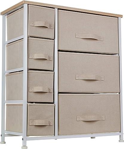 Ornavo Home 7 Drawer Storage Dresser Tower