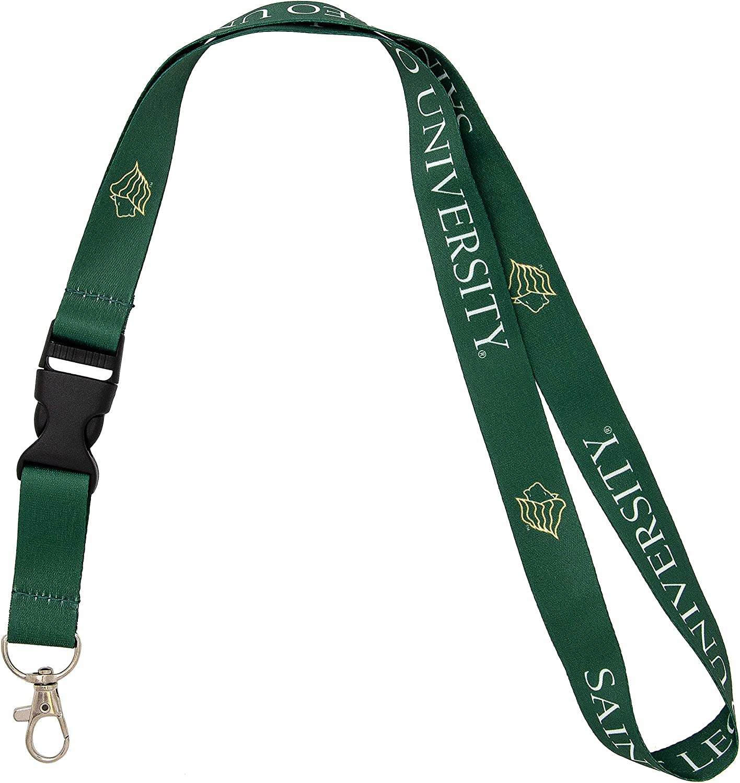 Saint Leo University NCAA Car Keys ID Badge Holder Lanyard Keychain Detachable Breakaway Snap Buckle Red