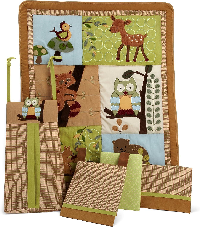 Lambs & Ivy 5 Piece Bedding Set, Enchanted Forest [並行輸入品]