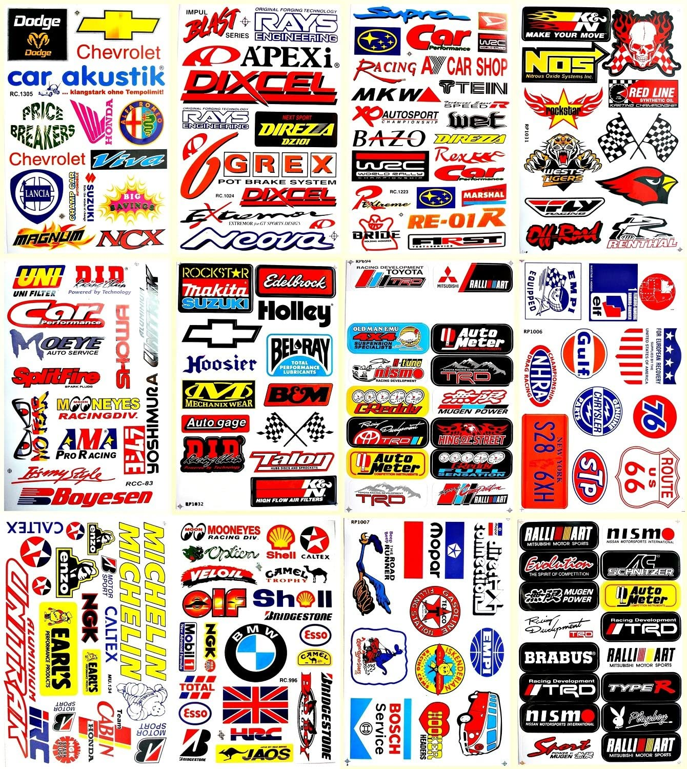 Motorsport Cars Decals Stickers