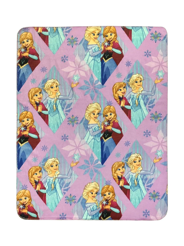 Disney Frozen Lilac Diamond Plush 40' x 50' Travel Blanket Ana & Elsa (Official Disney Product) Jay Franco and Sons Inc. JF16970ECD