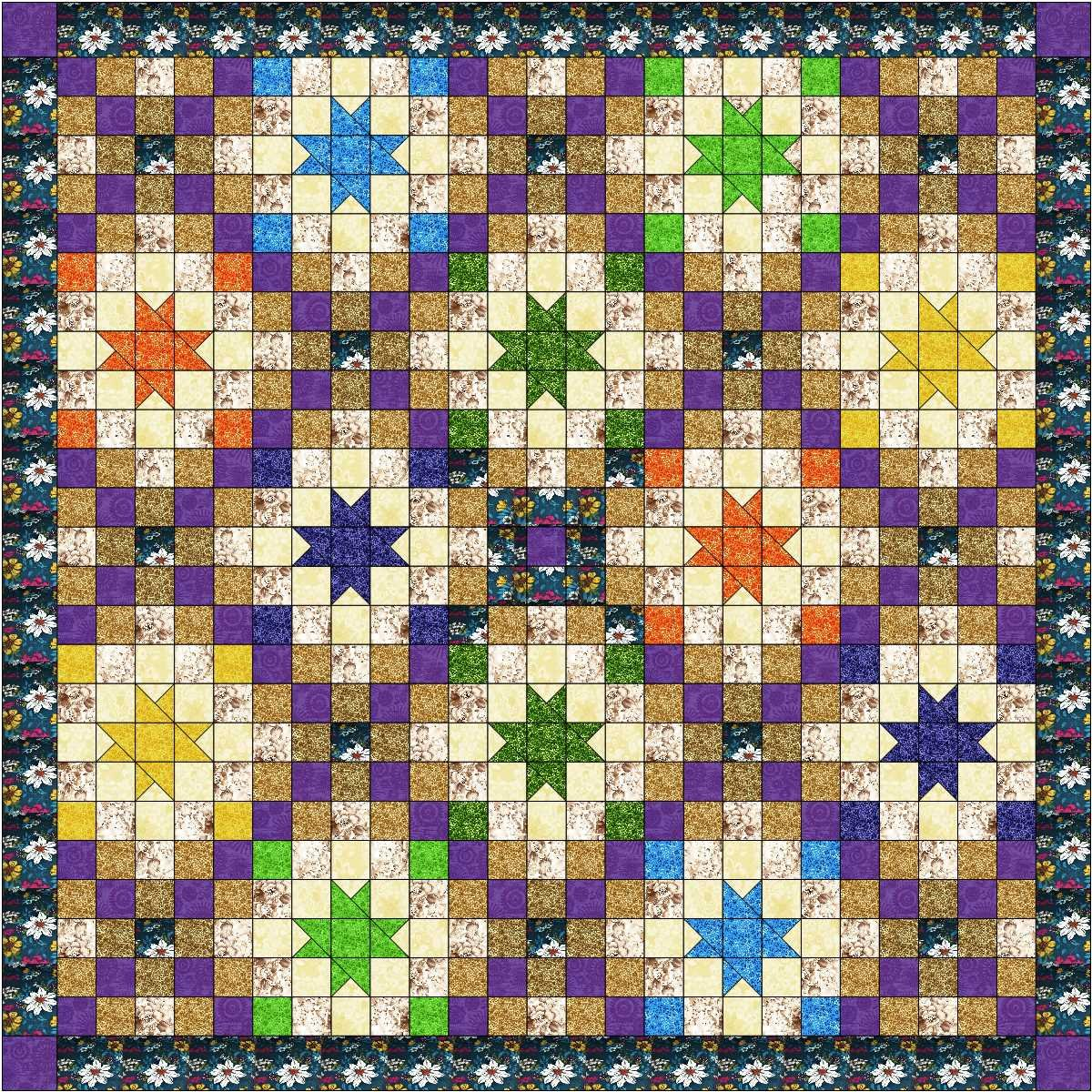 Quilt Kit Summer Nights Striking! Galaxy/RJR