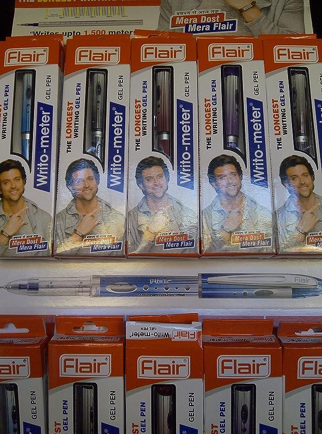 Flair Writo Meter Black Ball Pen Pack of - 20 Stick Ballpoint Pens at amazon