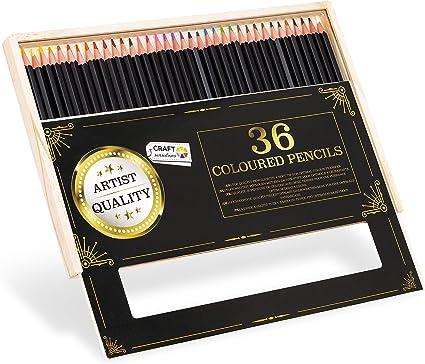 Craft Sensations 36 lápices de colores para adultos en una caja de ...