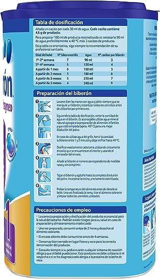 Almirón Prosyneo 1 Leche de Inicio en Polvo a Partir del Primer Día - Paquete de 6 x 800 gr - Total: 4.8 kg
