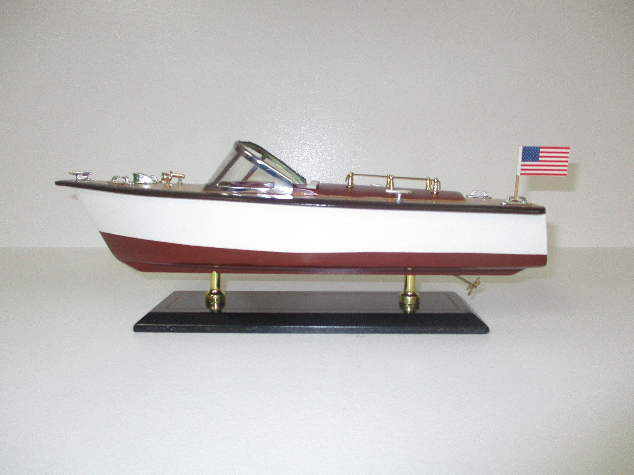Medium Wood Model Speedboat
