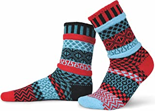 product image for Solmate Socks - Mismatched Crew Socks; Made in USA, Mars Large