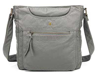 1aae0ffe6c1 Image Unavailable. Image not available for. Color  Scarleton Soft Multi  Pocket Crossbody Bag H181224 - Ash