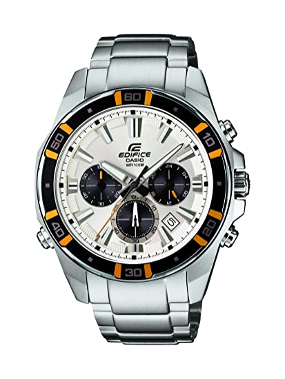 CASIO Reloj Cronógrafo para Hombre de Cuarzo con Correa en Acero Inoxidable EFR-534D-7AVEF: Amazon.es: Relojes