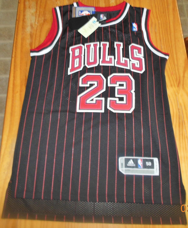 timeless design 5d002 b01e7 NBA Chicago Bulls Black Red Stripe Jersey, Michael Jordan