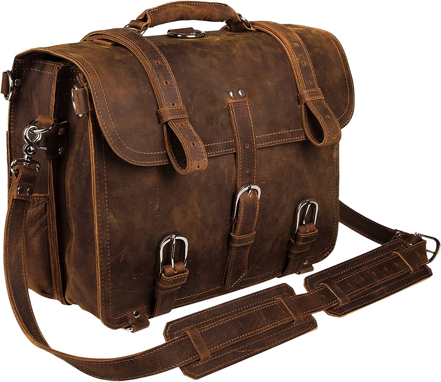Personalized Handmade Men/'s Vintage Full Grain Leather Messenger Bag Business Case Computer Briefcase Groomsmen Gifts Valentine/'s Day Gift