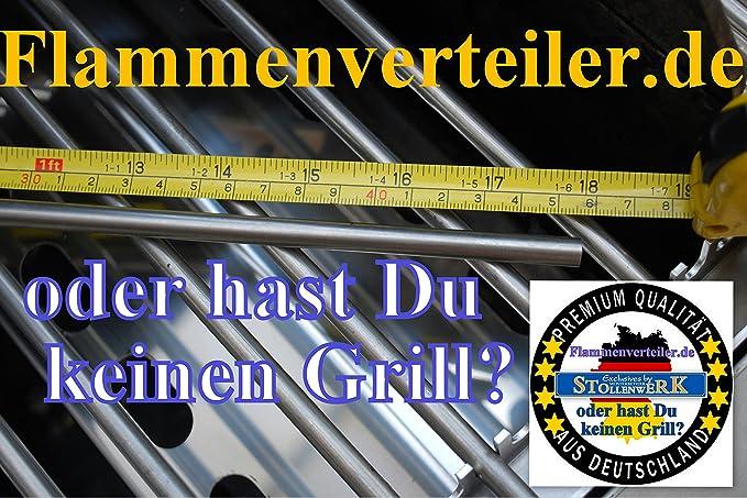 Enders Gasgrill Flammenabdeckung : Flammenverteiler edelstahl manufaktur ersatz set: 375mm x 120mm 3