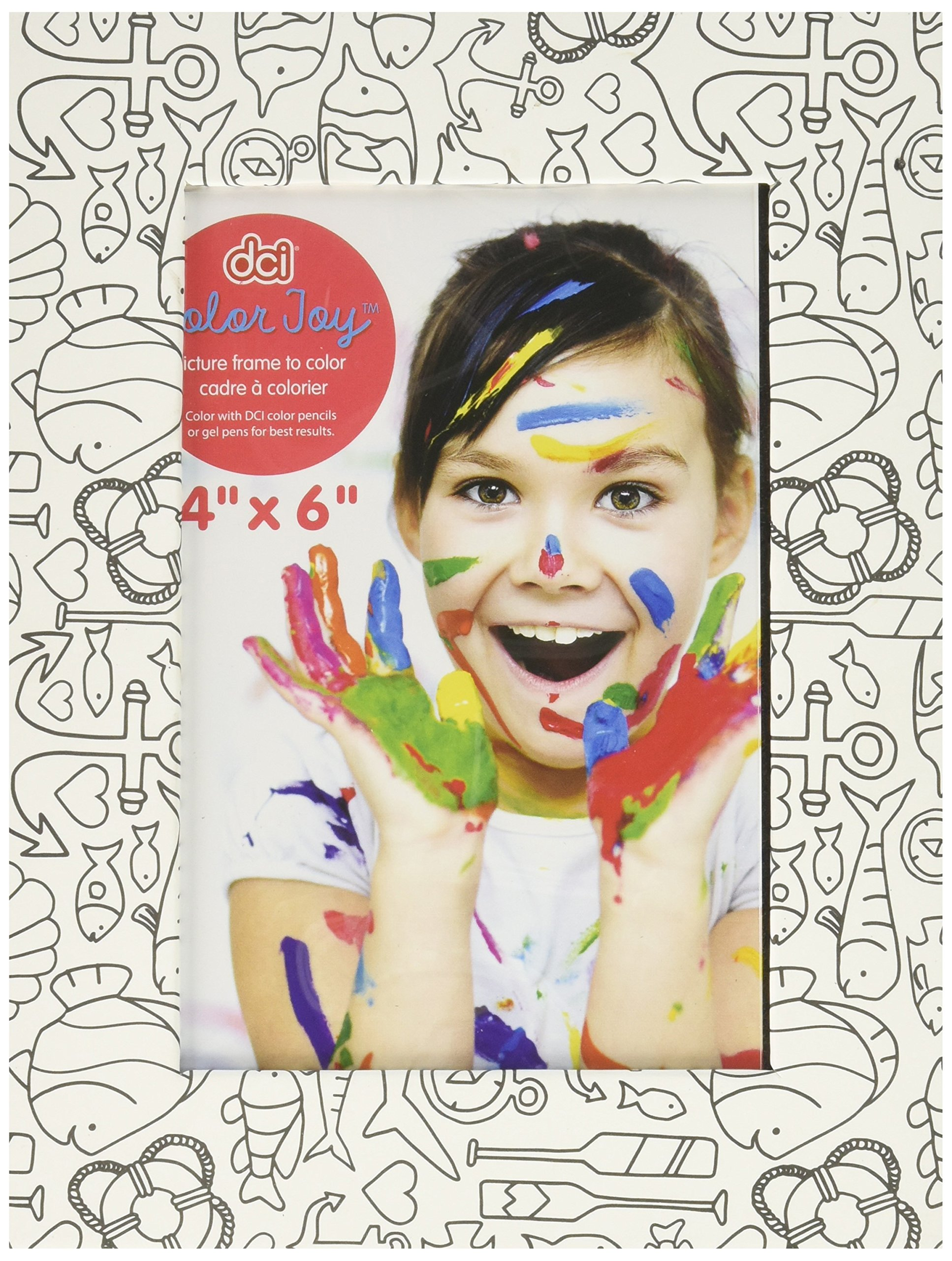 ColorJoy DCI Custom Picture Frame, DIY Crafts, Assorted Designs, 4'' x 6'' Insert Size, Customize Your Own Picture Frame