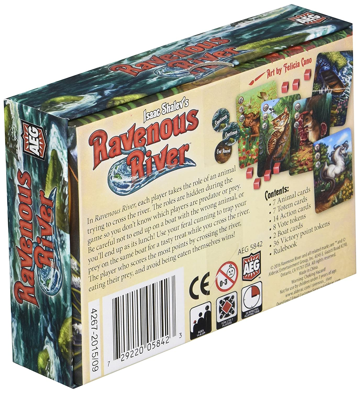 PSI 5842AEG AEG Ravenous River Board Game Publisher Services Inc