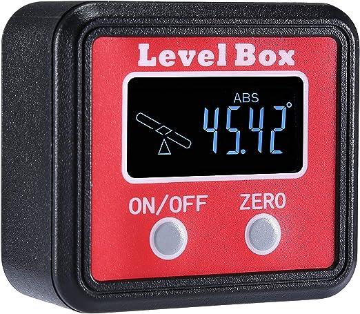 0~360° Digital Anzeige Winkelmessgerät Messgerät Neigungsmesser Winkelmesser Neu