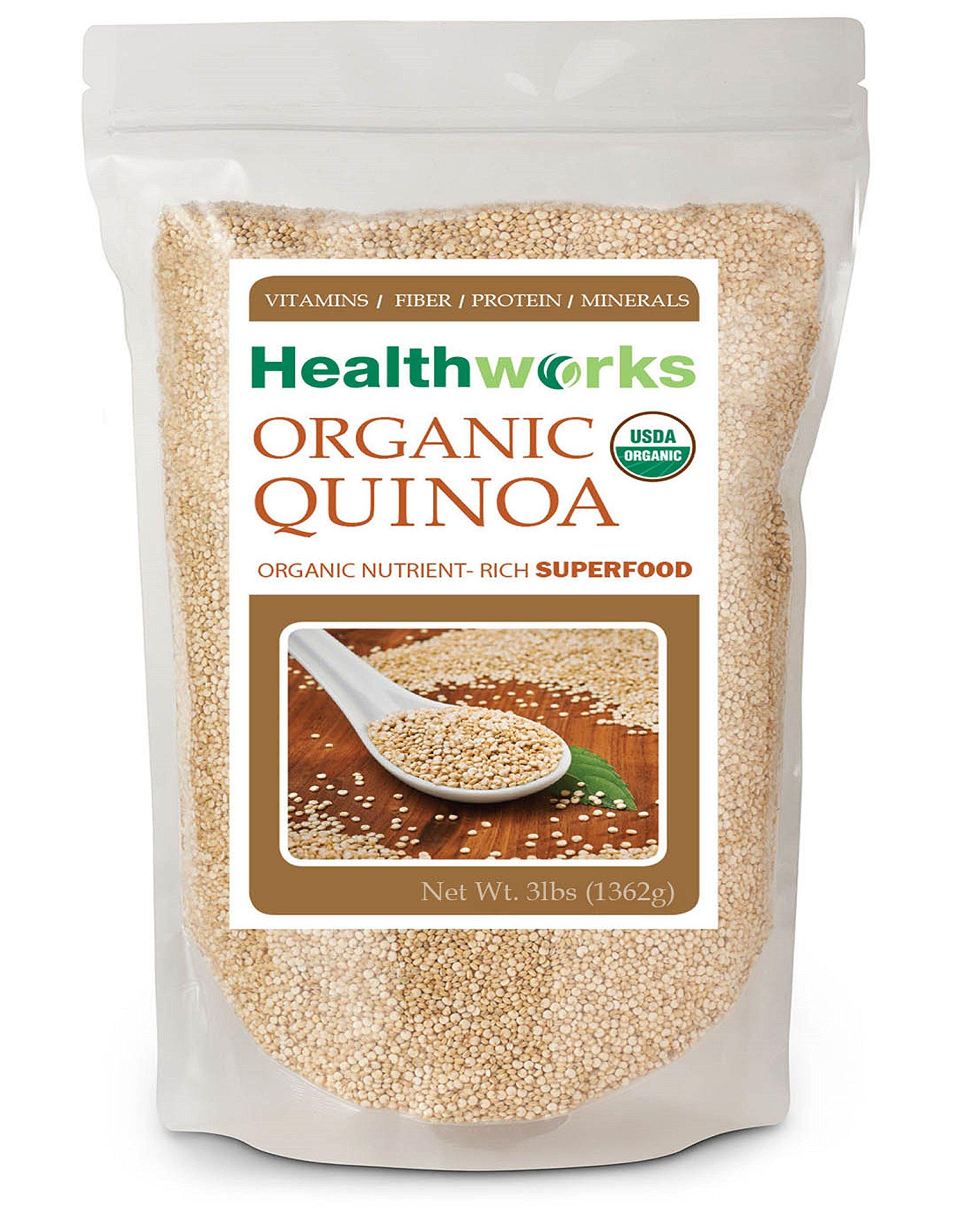 Healthworks Quinoa White Whole Grain Raw Organic 3Lb 8