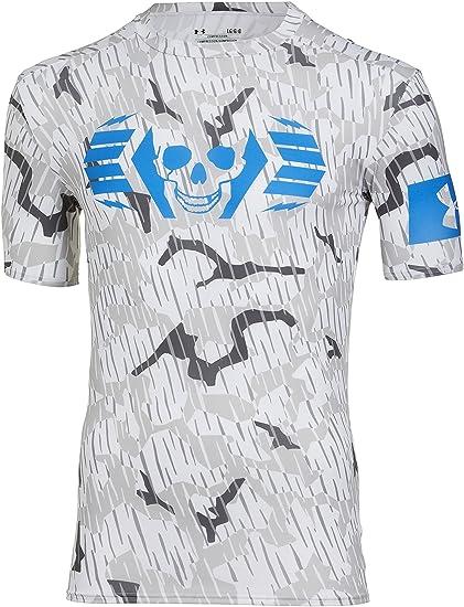 Under Armour Men s UA Combine® Training Skull Bolt Compression T-Shirt  Large Steel f61f8170c