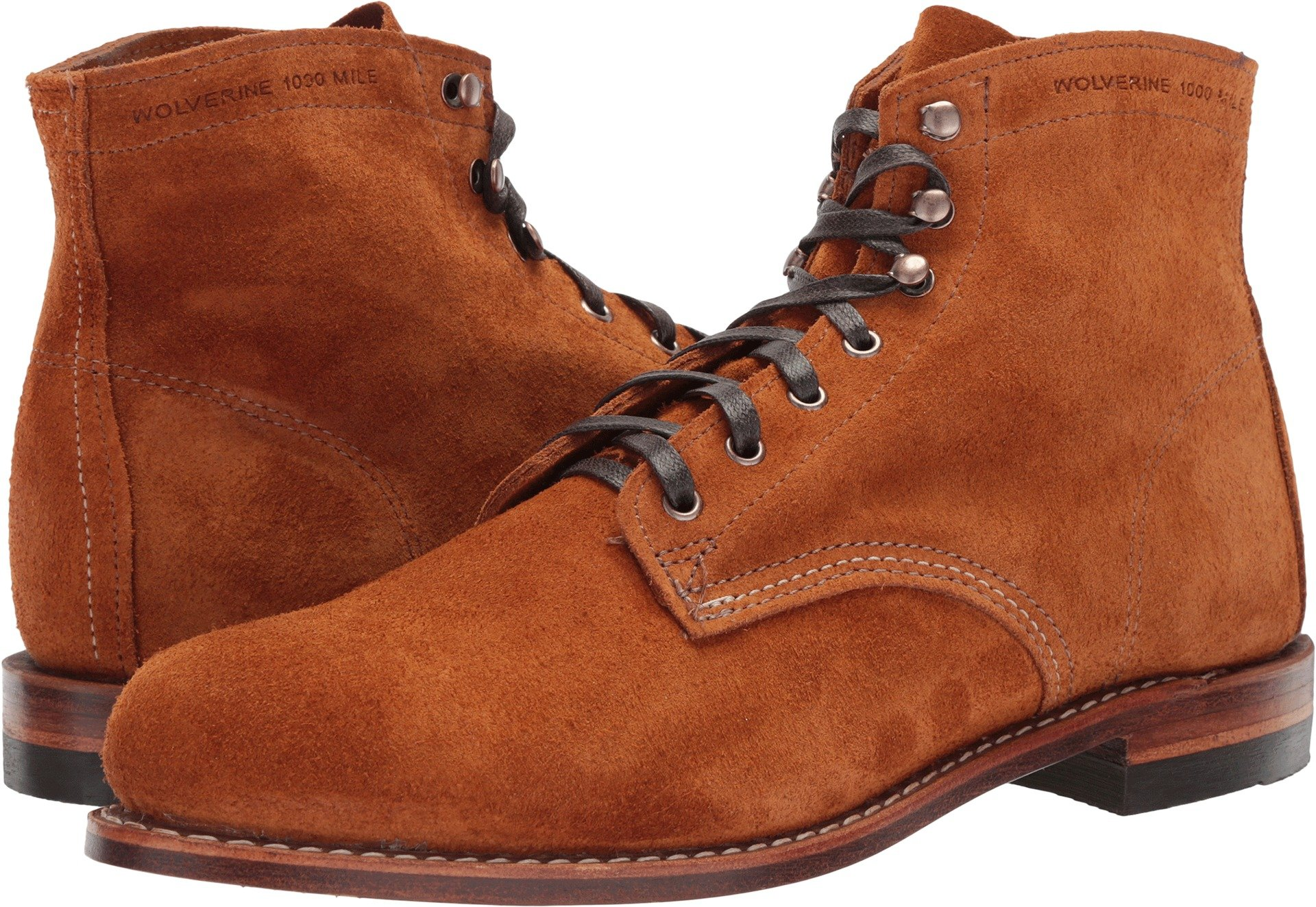 Wolverine Men's Original 1000 Mile 6'' Boot Amber Suede 8 M US by Wolverine (Image #1)