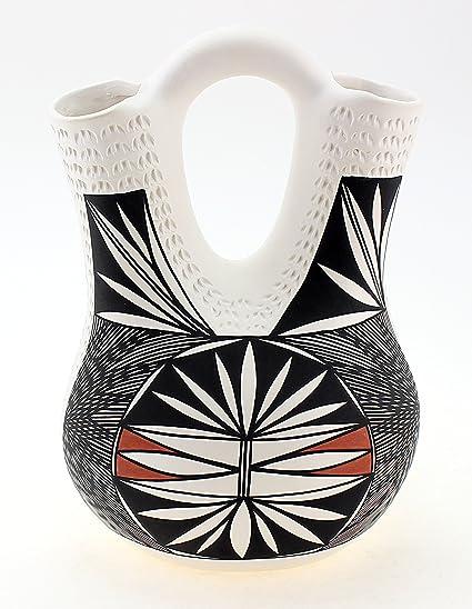 Native American Acoma Wedding Vase By H Poncho Amazon Home