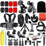 Iextreme 45 in 1 Accessori Kits per Gopro Hero 5 4 3+ 3 2 1 SJ4000 SJ5000 SJ6000 Azione la Fotocamera Accessories per Sport Esterno-Floating Grip+Head Strap+Chest Strap+Octopus Tripod+Selfie Stick