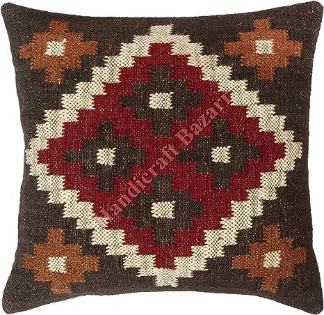 Handicraft Bazarr Boho Kilim patrón geométrico lana yute ...