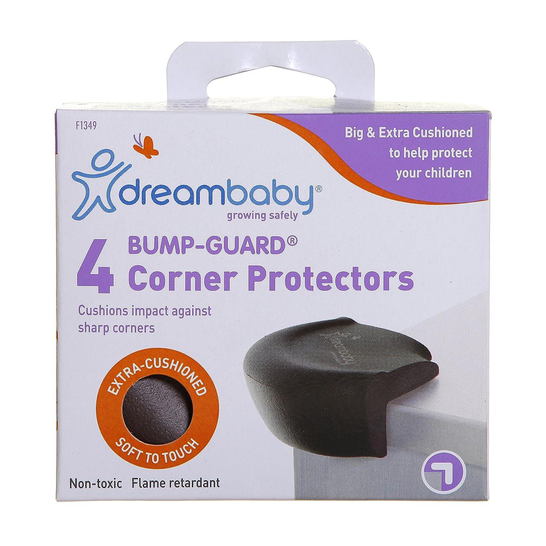 Dreambaby Bump-Guard Corner Protectors 4 Pack (Brown)