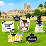 2021 Graduation Decorations Yard Sign - 7Pcs Graduation Party Supplies Photo Booth Props Graduation Party Favors Class of 202